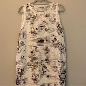 Vince Tie Waist Sleeveless Dress